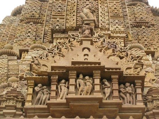 Detalles en los Templos de Khajuraho