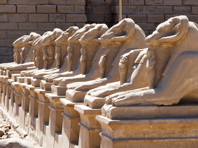 Valley of The Sphinx in Karnak Temple