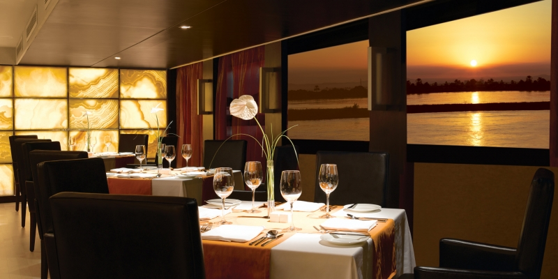 Oberoi Zahra Nile Cruise Restaurant