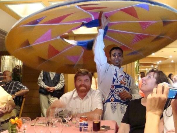 Baile de Tanura abordo del crucero por el Nilo