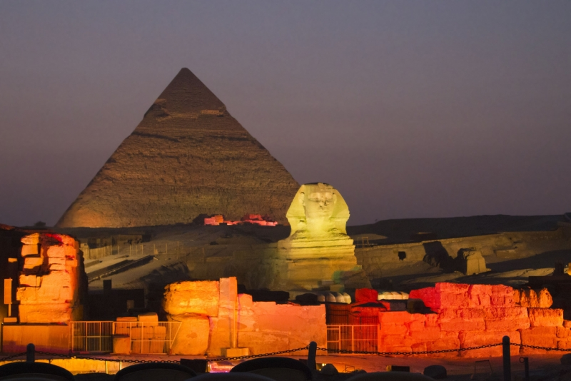 Pyramid Sound and Light Show in Giza Egypt