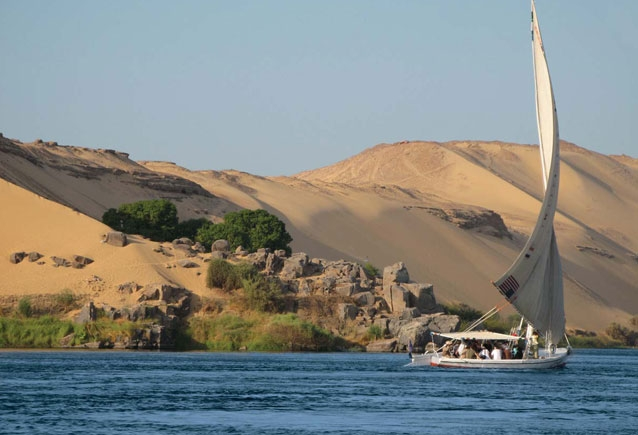 Felucca on The Nile in Aswan