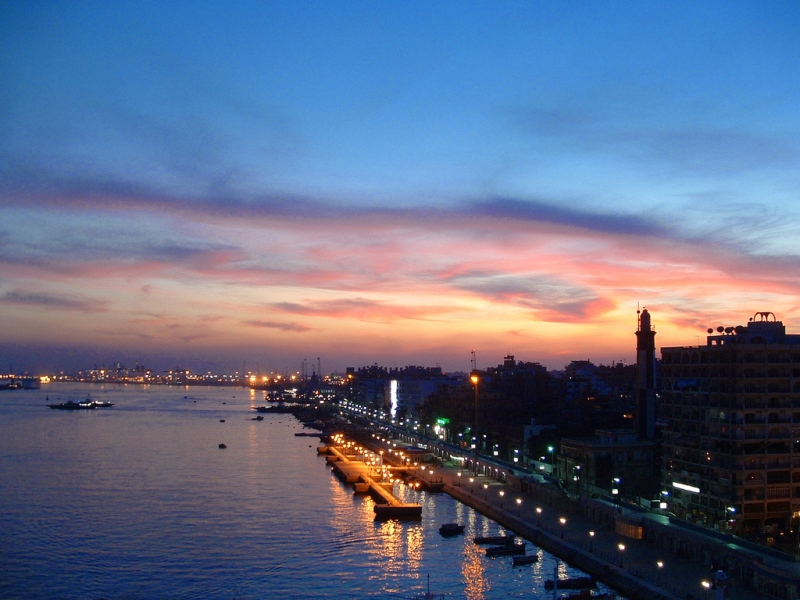 Port Said During Sunset