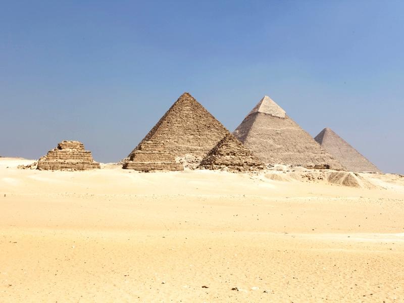 Panoramic View of Giza Pyramids, Egypt