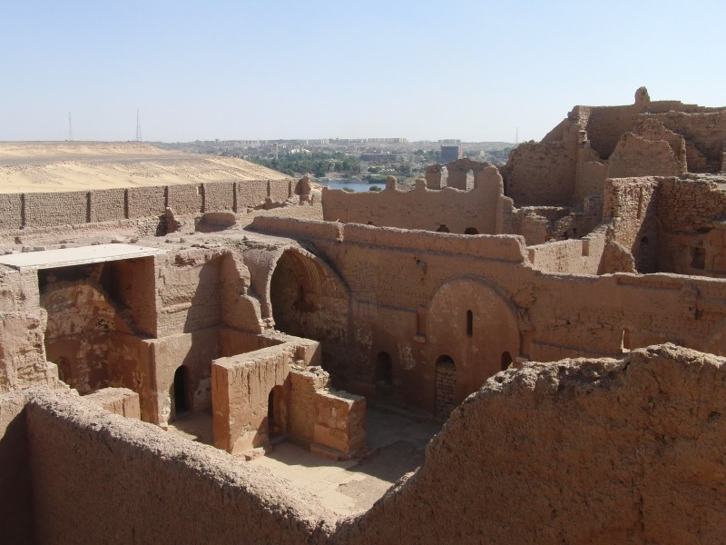 A View of St.Simeon Monastery in Aswan