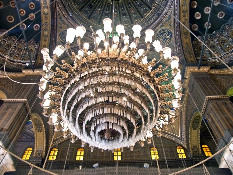The Interior of Mohamed Ali Mosque, Salah El Din Citadel