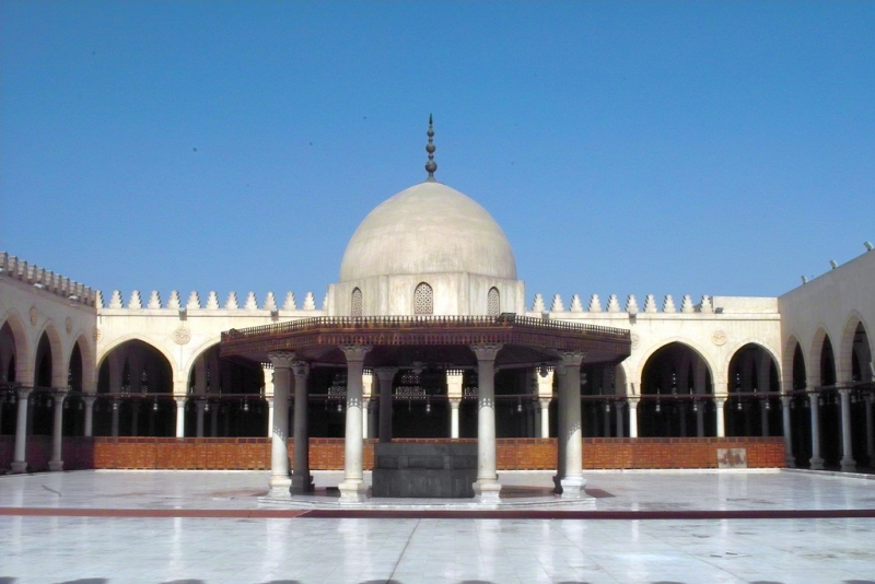 Fountain inside Amr Ibn Al-Aas Mosque