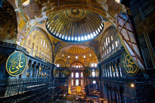 Inside Hagia Sophia Museum, Istanbul