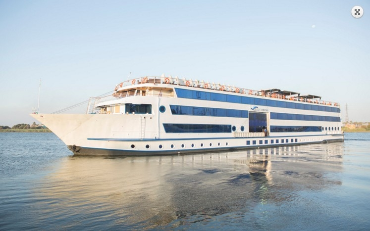 Blue shadow Nile cruise