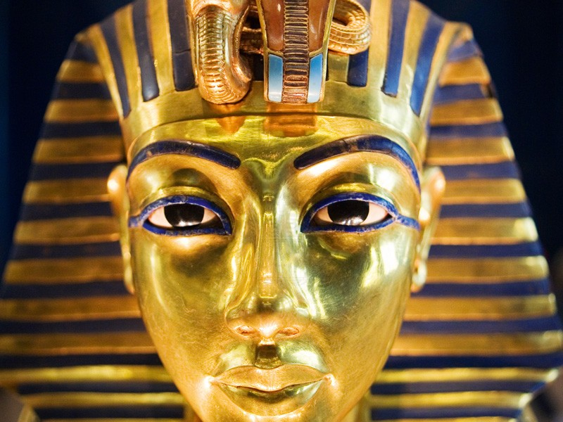 The Golden Mask of king Tutankhamun in Cairo Museum