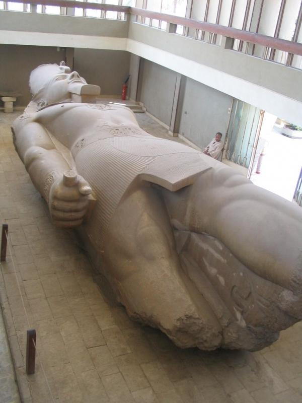 Colossal Statue of Rameses II in Memphis Necropolis