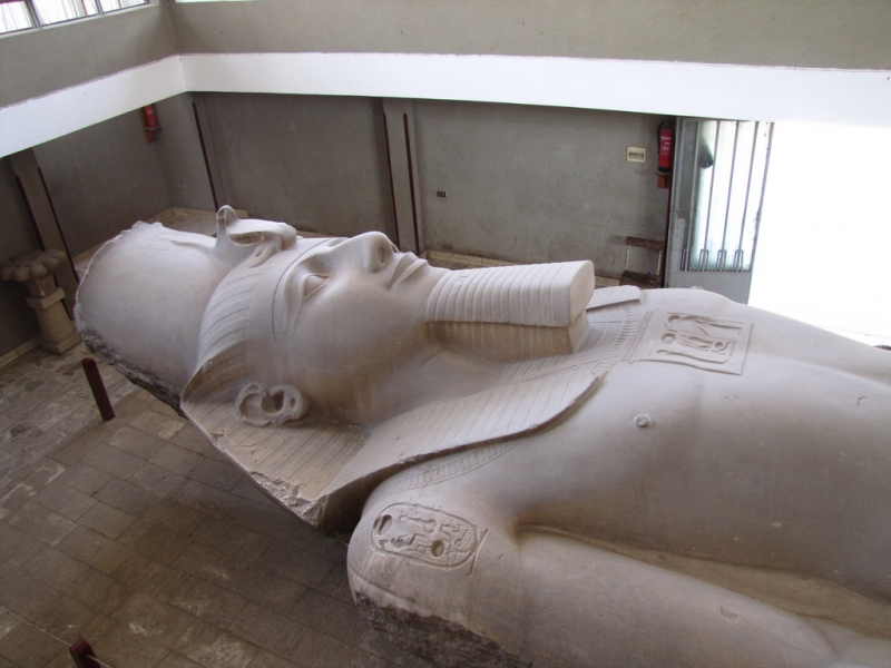 The Colossal Statue of Rameses II in Memphis Museum