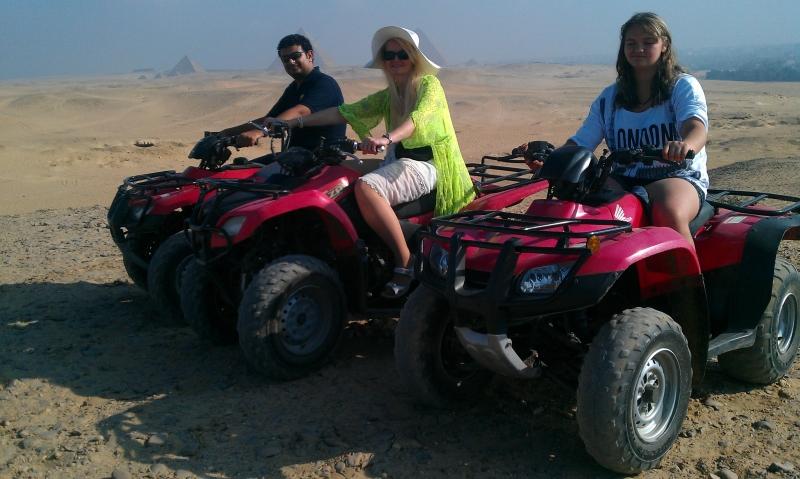 ATV quad bike in Cairo Pyramids
