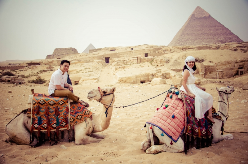 Camel Ride around Giza Pyramids