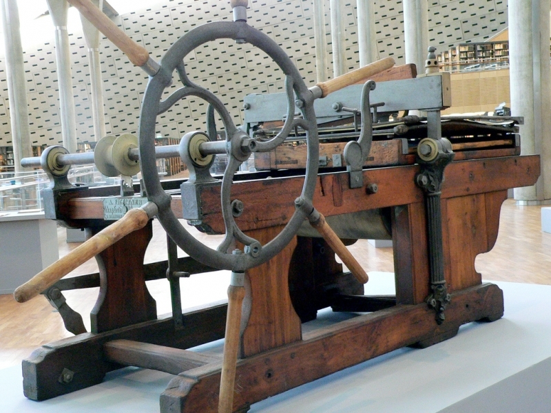 A Printing Press inside Alexandria Library