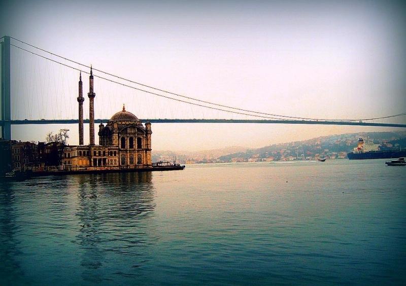 Ortakoy Mosque and Besphorus Strait, Istanbul