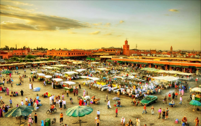 La plaza de Jamaa el Fna.
