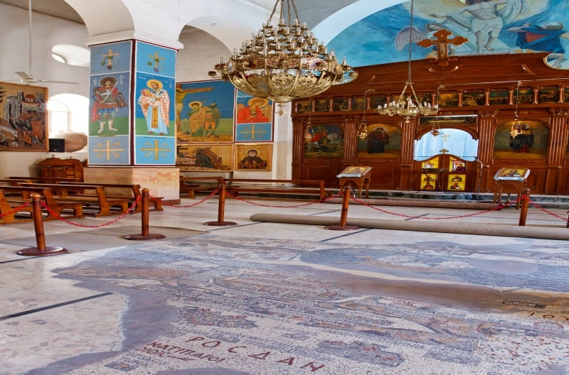 madaba  city of mosaics in jordan