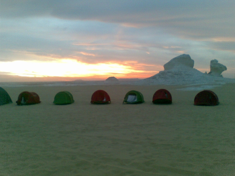 Camping in White Desert