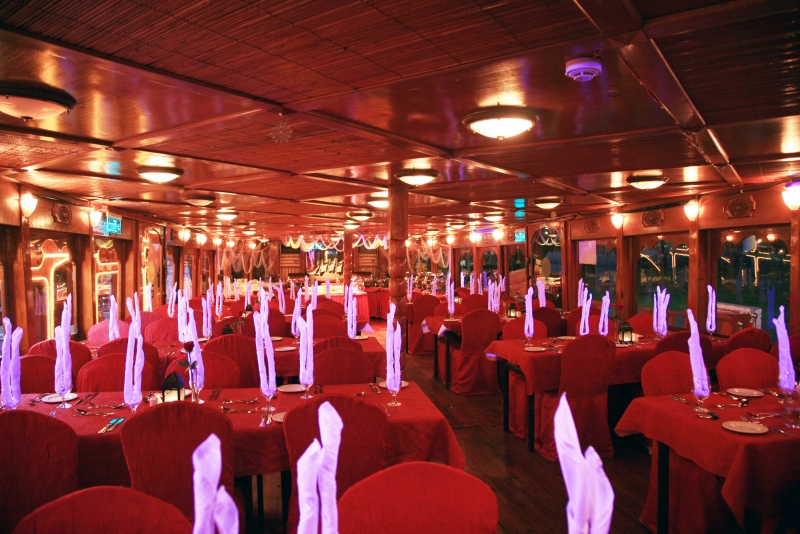 Inside the Dhow Cruise