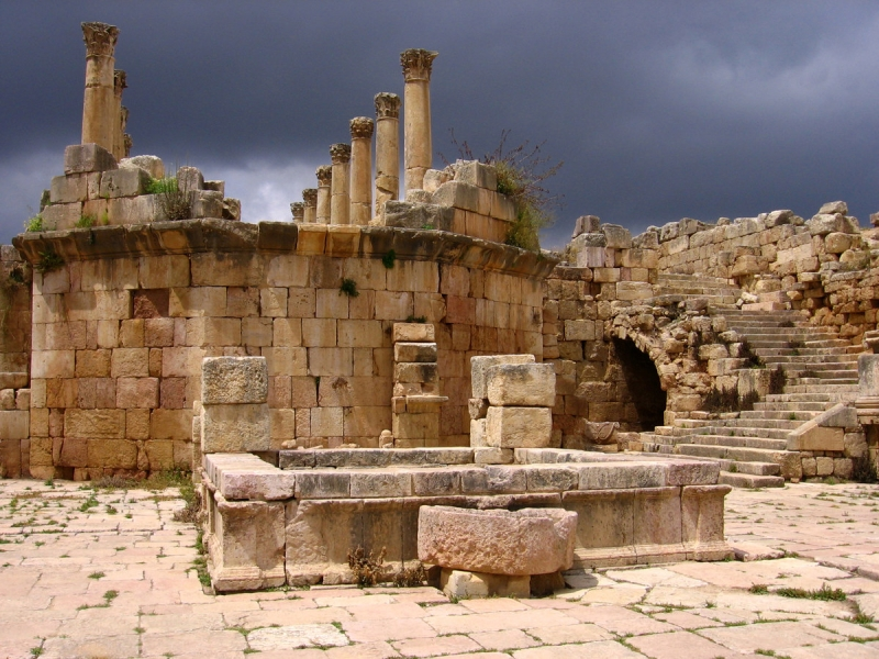 The Cathedral Atrium of Jerash Jordan