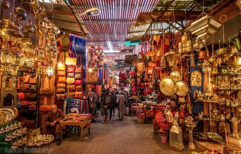 Souk Colorati di Marrakech.