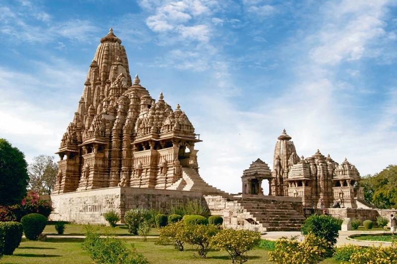 Vista a los templos de Khajuraho