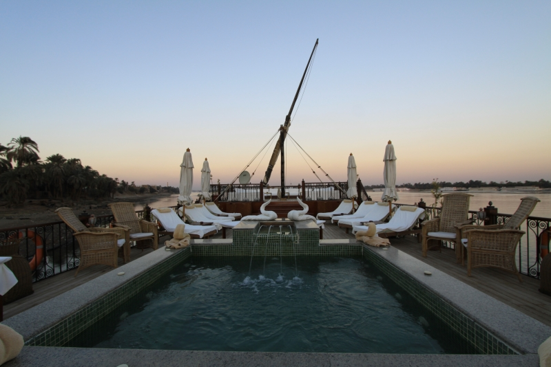 La piscine de la dahabeya Rois