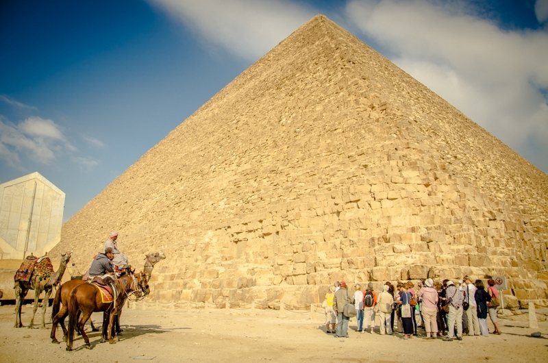 The Great Pyramid at Gize, Egypt