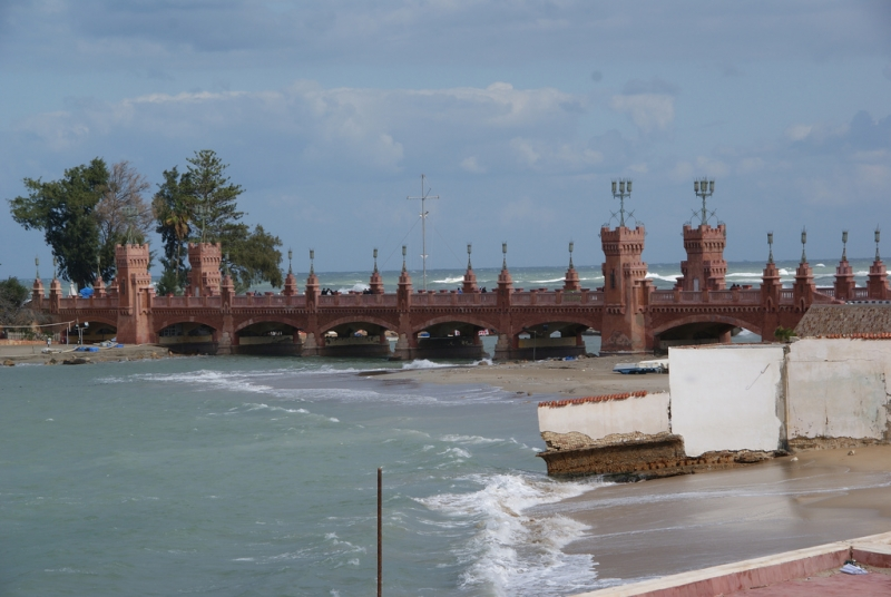 Bridge on the Mediterranean Sea