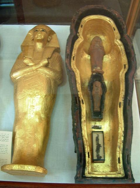 Tutankhamun Grandma's Hair Lock and Shabti