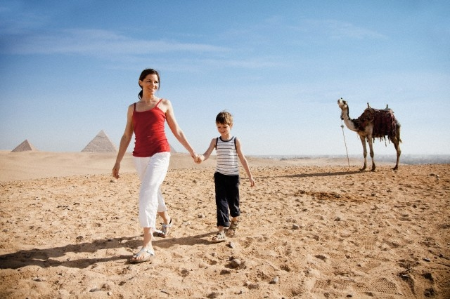 Lovely Moments around the Pyramids