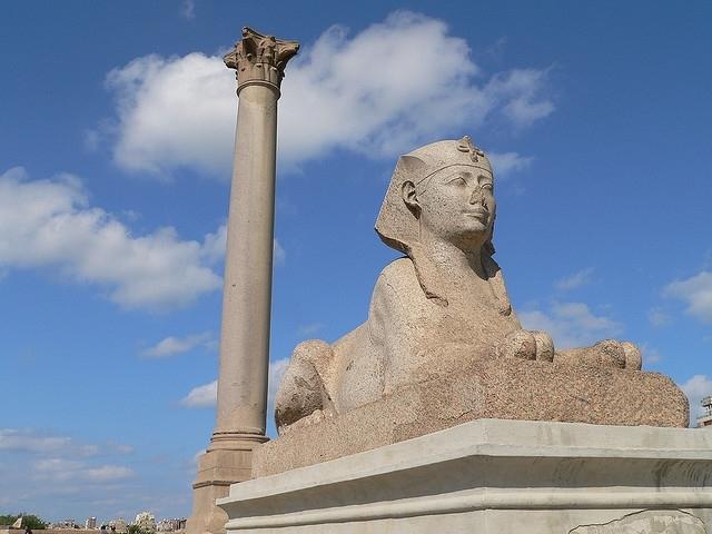The Pompey's Pillar in Alexandria