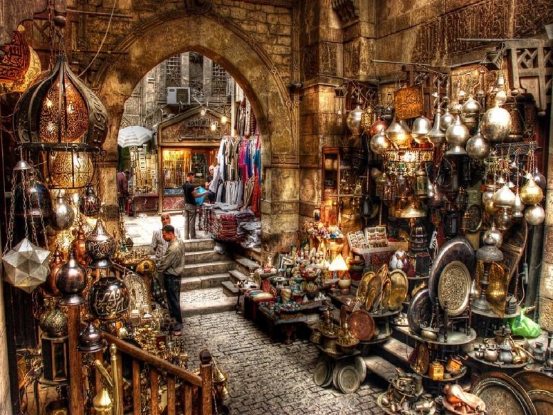Khan El Khalili Grand Bazaar in Cairo