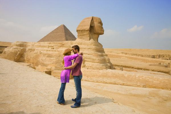 Honeymooning around Pyramids