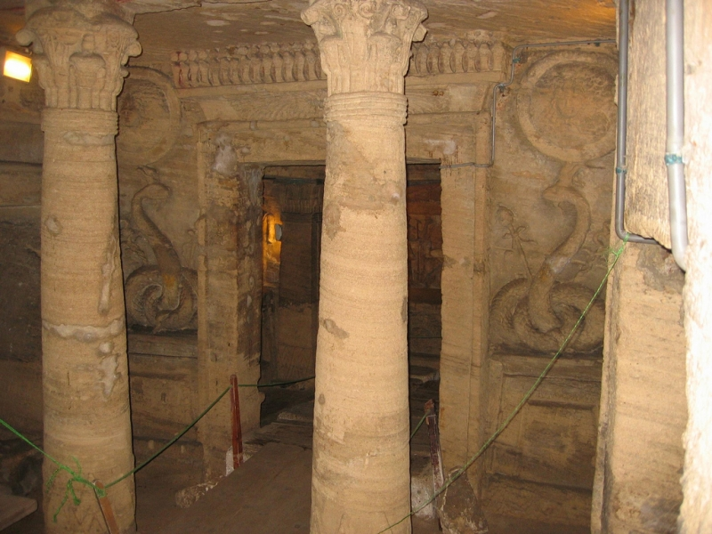Catacombs of Kom es-Shouqafa in Alexandria, Egypt