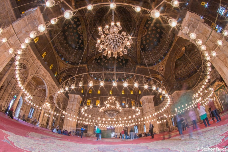 La Mezquita del Alabastro de Mohamed Ali por dentro.