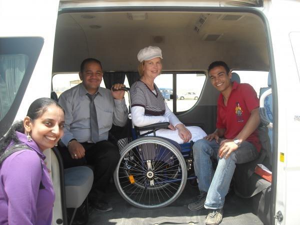 El vehículo dedicado para los minusválidos