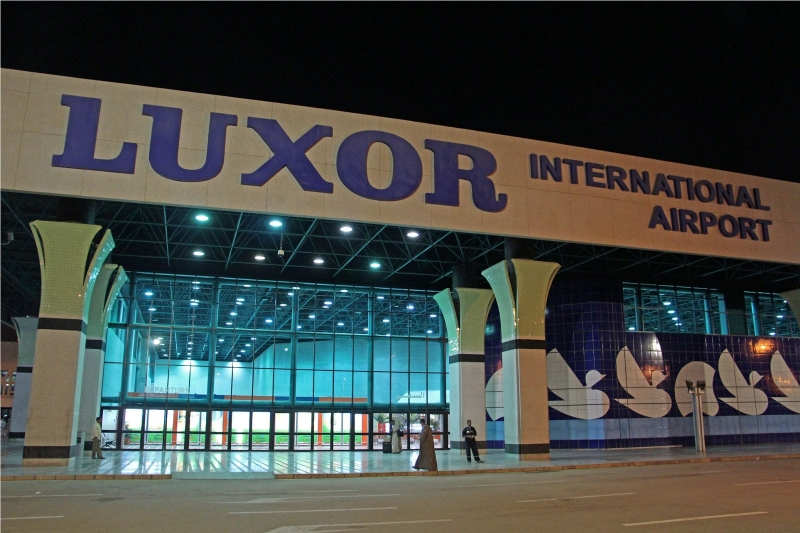Luxor Airport At Night