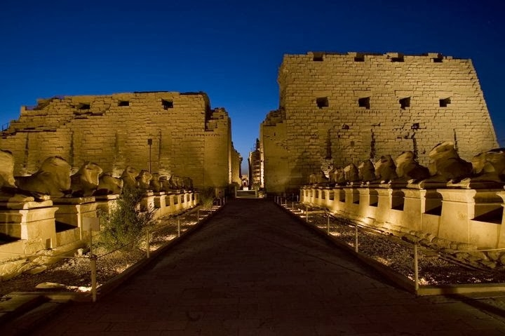 Sound and Light Show at Karnak Temple, Luxor