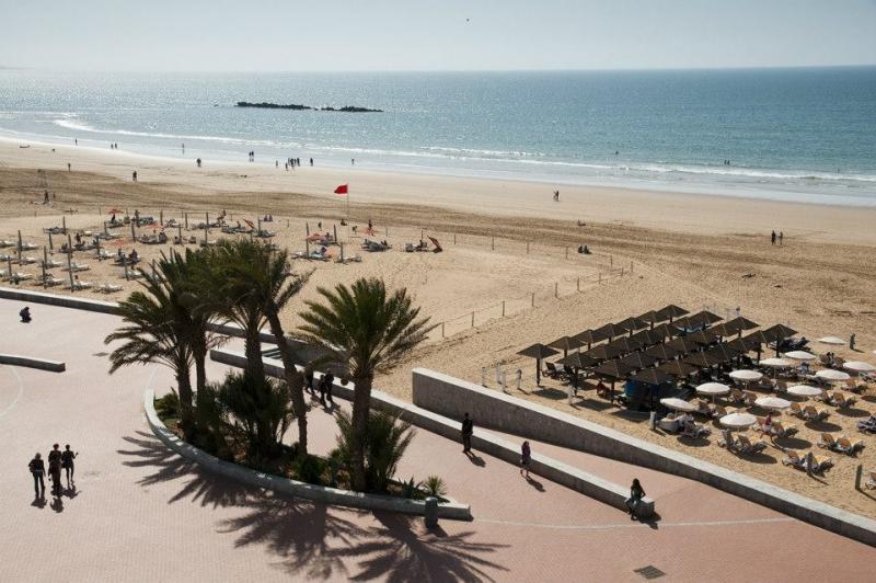 Vista da Praia de Agadir