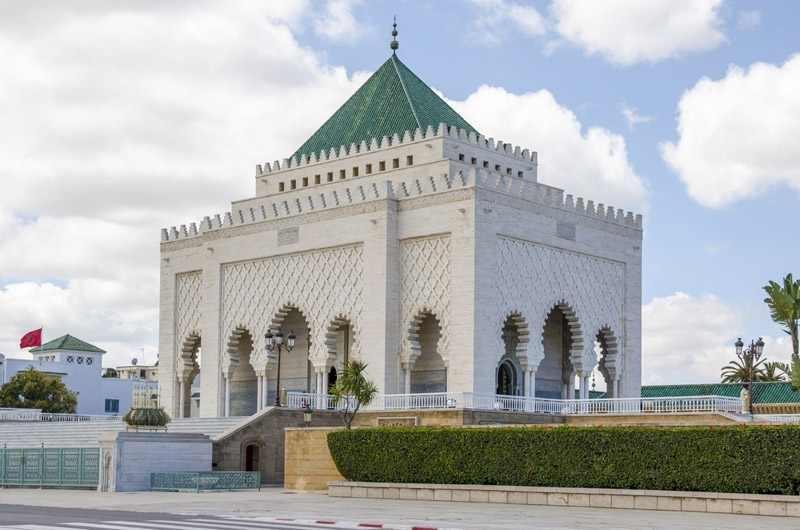 El Mausoleo de Mohamed V, Marruecos
