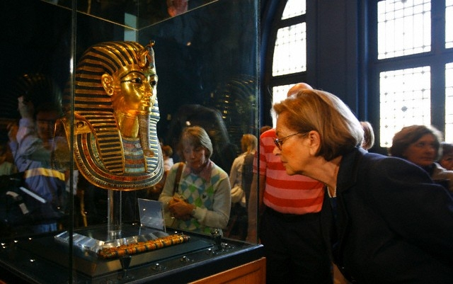 Tutankhamun mask in the Egyptian Museum