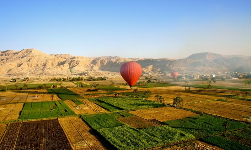 Hot Air Balloon Ride Trip over  Luxor