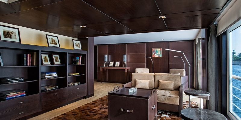 Library Onboard Oberoi Philae Luxury Nile Cruise