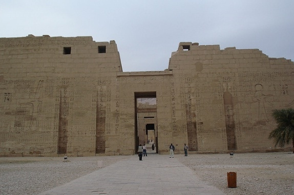 The First Pylon of the Mortuary Temple