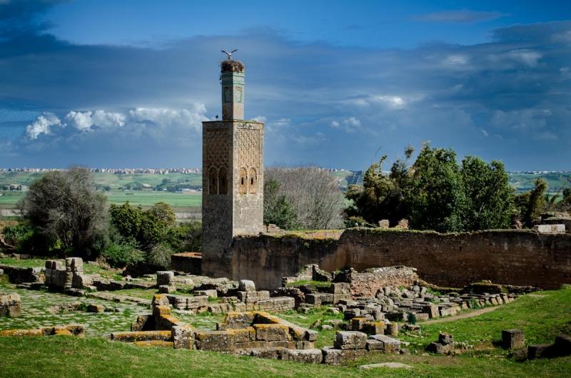 las ruinas romanas de chellah.
