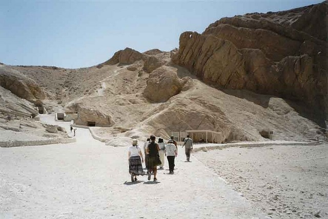 Walking at Valley of the Kings