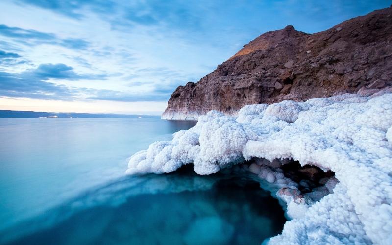 Cubi di Sale nel Mar Morto