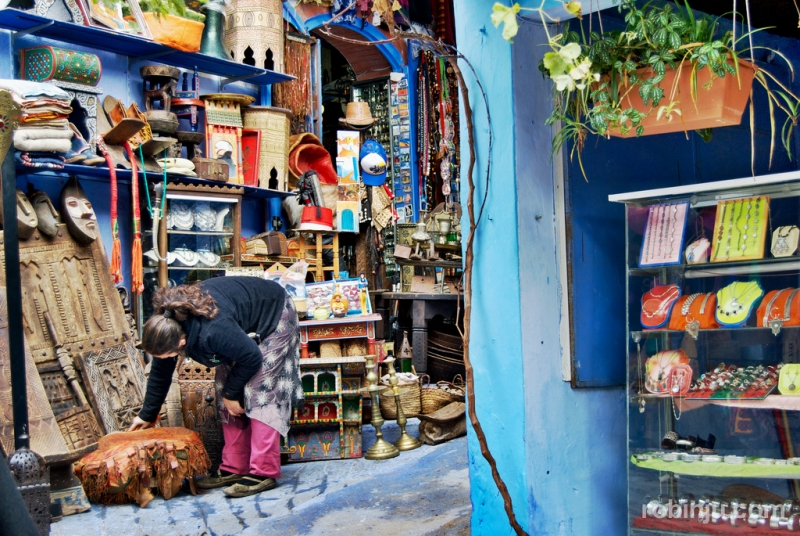 The souks in Chefchaouen